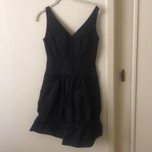 Black satin dress. Good condition